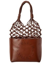 Stella McCartney Logo Knotted Bucket Bag - Brown