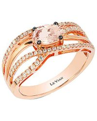 Le Vian - ? 14k Rose Gold 0.82 Ct. Tw. Diamond & Morganite Ring - Lyst