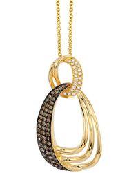 Le Vian 14k 0.40 Ct. Tw. White & Chocolate Diamond Necklace - Metallic