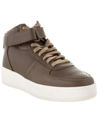 Céline - Céline Leather High Top Sneaker - Lyst