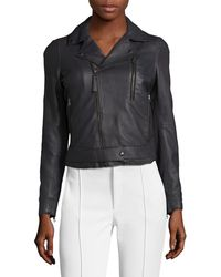 Lot78 - Leather Motorcycle Jacket - Lyst