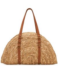 San Diego Hat Company Straw Crescent Shaped Bag - Natural