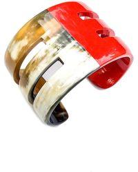 Arthur Marder Fine Jewelry Buffalo Horn Bracelet - Red