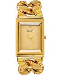 SO & CO Soho Diamond Watch - Yellow
