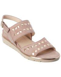 Gabor Suede Wedge Sandal - Pink