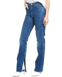 7 For All Mankind 7 For All Mankind Ret Board High-rise Straight Leg Jean - Blue