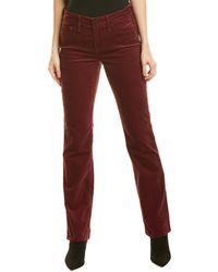 NYDJ Marilyn Grenache Straight Leg Jean - Red