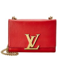 Louis Vuitton Red Leather Louise Mm