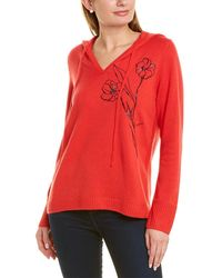 St. John Embroidered Cashmere Hoodie