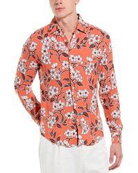 Reiss Freddie Slim Fit Woven Shirt - Orange