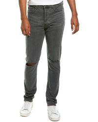 Rag & Bone Men's Standard Issue Fit 1 Slim-skinny Jeans W/ Ripped Knees - Multicolour