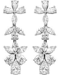 Diana M. Jewels . Fine Jewellery 18k 5.05 Ct. Tw. Diamond Drop Earrings - Metallic