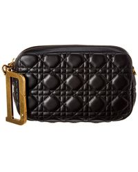 Dior Quilted Leather Pouch - Black