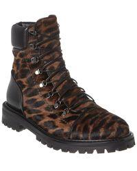 Alaïa Haircalf & Leather Boot - Black