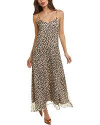 Theory Leopard Silk Maxi Dress - White