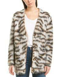 Ronny Kobo Arlene Mohair & Wool-blend Cardigan - Brown