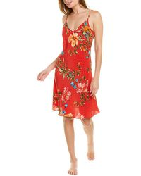 Johnny Was Caitlyn Silk Nightgown - Red