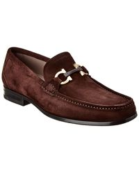 Ferragamo Grandioso Suede Loafer - Brown