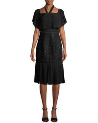 Temperley London - Berry Lace Cocktail Flounce Dress - Lyst