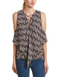 10 Crosby Derek Lam - Tiered Lace-up Silk Top - Lyst