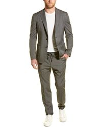 Ermenegildo Zegna Z Zenga Techmerino Wash&go 2pc Wool Suit With Flat Pant - Gray