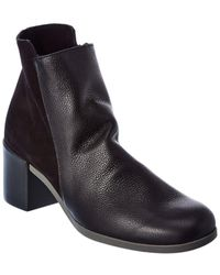 Arche Angaya Leather & Suede Bootie - Black
