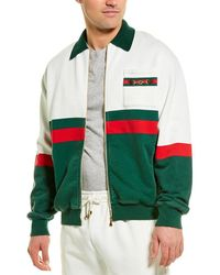 Gucci Web Detail Zip-up Jacket - White