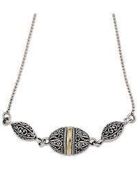 Samuel B. 18k Over Silver Filigree Necklace - Metallic