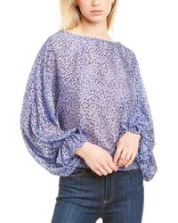 Joie Nylah Silk-blend Top - Blue