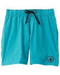 Body Glove Maui Stretch Swim Trunk - Blue