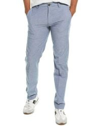 Brooks Brothers Chambray Slim Fit Pant - Blue