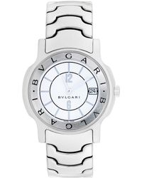 BVLGARI Bulgari 2000s Men's Solotempo Watch - Metallic