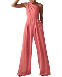 Reiss Polly Jumpsuit - Red