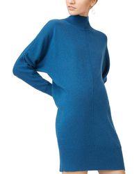 Club Monaco Kamela Wool-blend Jumper Dress - Blue