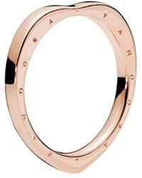PANDORA - Rose Signature Arcs Of Love Ring - Lyst
