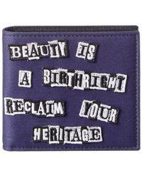 Valentino Canvas Bifold Wallet - Purple