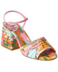 Fendi Ff Motif Sandal - Pink