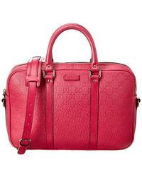 Gucci - Pink Ssima Leather Briefcase - Lyst