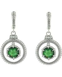Judith Ripka - Legacy Silver 5.44 Ct. Tw. Gemstone & Crystal Drop Earrings - Lyst