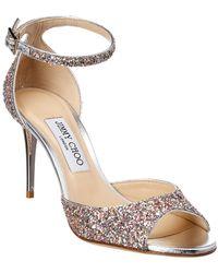 2cf4cf0f061 Lyst - Jimmy Choo Annie 85 Ankle-strap Glitter Sandal in Metallic