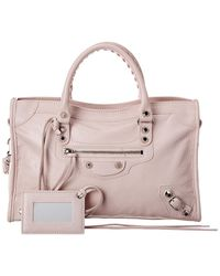 Balenciaga Classic City Small Leather Shoulder Bag - Pink