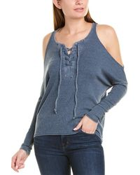 Chaser Lace-up Top - Blue