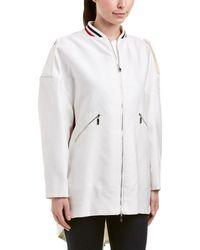 Moncler Silk-blend Coat - White