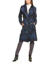 Samantha Sung Clara Silk Coat - Blue