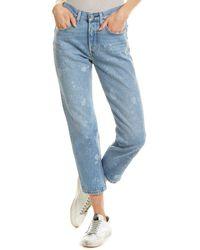 Levi's 501 Medium Blue Straight Leg Jean