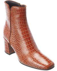 Aquatalia Weatherproof Leather Ankle Boots - Brown