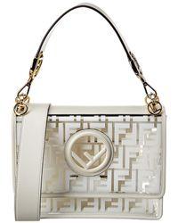 Fendi Kan I F Small Leather & Pvc Shoulder Bag - Multicolour