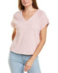 Velvet Heart Boxy Textured Top - Pink