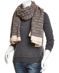 Moschino Wool Wrap - Brown