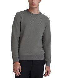 Club Monaco Honeycomb Crewneck Sweater - Gray